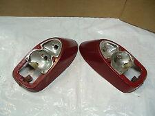 VW Vintage 1968 OEM Beetle Rear Tail Light Housings Red #2