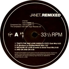 LPx2 - Janet - Janet.Remixed (HOUSE,FUNK) UK EDIT.1995,MINT,IN 2 GENERIC SLEEVES