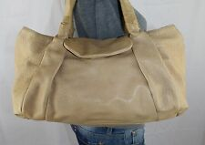 ANN TAYLOR Large Tan Leather Shoulder Hobo Tote Satchel Slouch Purse Bag