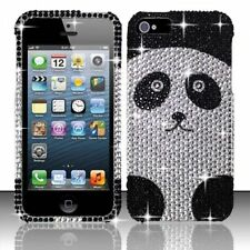 For iPhone 5 5S SE Crystal Diamond BLING Hard Case Snap On Phone Cover Panda