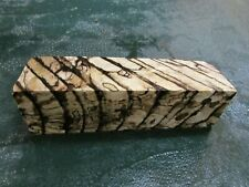 SPALTED HACKBERRY DELUXE KNIFE BLOCK/SCALES/ CALLS/ PEN BLANKS--H---25