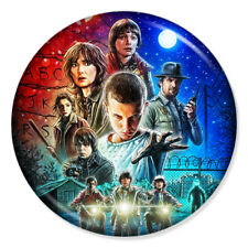 """STRANGER THINGS 25mm 1"""" Pin Badge Button ELEVEN WILL BYERS JIM HOPPER RETRO SHOW"""