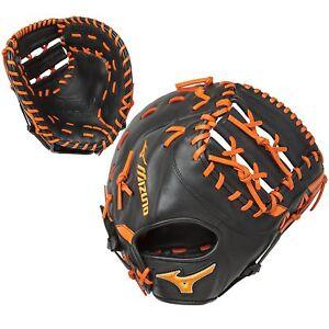 Mizuno GXF50PSE5 RHT Black/Orange 12.5 Inch MVP Prime First Base Baseball Mitt