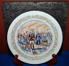 1977 Limoges Lafayette And George Washington Collector Porcelain Plate Ss2