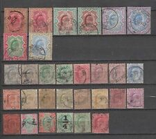 British India King Edward 1902 Complete Set to Rs 15 Used 30 Stamps Cat £300