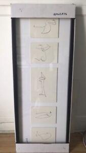 Framed Art PABLO PICASSO Illustration Animals Lithograph IKEA Prints Olunda Disc