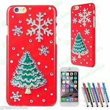 For iPhone 6 4.7 3D Luxury Handmade Christmas Tree with Snow Diamond Case Cover