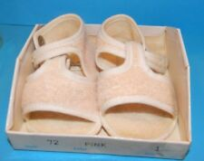Vintage Mrs Day's Ideal Baby Shoe in Original Box Size 1 Pink Terrycloth