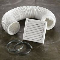 HIB Bathroom Extractor Fan Accessory Kit White Flexible Ducting System 32400