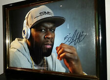 50 CENT - HAND SIGNED FRAMED PHOTO WITH COA NY RAP LEGEND ORIGINAL AUTOGRAPH
