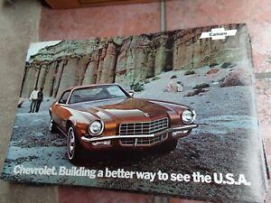 LOT of 20 1972 Chevrolet Camaro Large Dealer Brochure Owner Manual ORIGINAL Z28