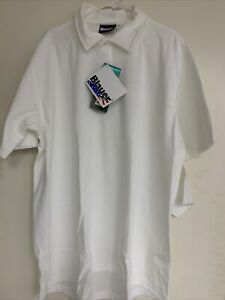 BLAUER 8131-1 BI-COMPONENT POLO SHIRT Short Sleeve WHITE Extra Large NWT 2 PACK
