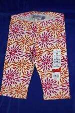 Jumping Beans 2T Pedal Pusher White Pink Orange Floral Pants Leggings GTJ23601KP