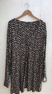 NEW EX CHAIN STORE LADIES BROWN & BLACK  PLUS SIZE TOP SIZES 22/24-30/32