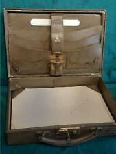 Antique Leather Stationary Writing Box by J.C.Vickery with Travelling Inkwell