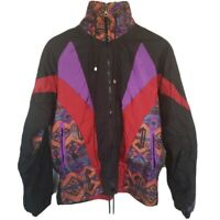 Vtg NEW 90s Colorblock Womens Windbreaker Jacket Westside Connection Medium