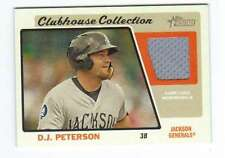 2015 Topps Heritage Minor League Clubhouse Jersey Relic DP D.J. Peterson