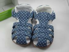 Carter's Every Step Girls Blue & White Polka Dot Shoes Sz 4, 12-18M Stage 3 Walk
