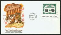 #2630 29c New York Stock Exchange, Fleetwood FDC **ANY 4=FREE SHIPPING**