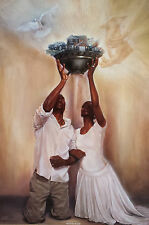 "African American Art ""Give it All to God"" Black Religious Art Kevin Williams WAK"