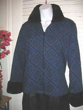 Petite Sophisticate  JACKET SIZE medium faux fur collar and cuffs