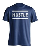 New Men's Hustle Athletic Gym T-shirt Inspirational Sports Workout Graphic Tee