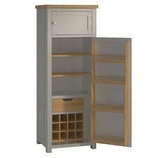 Padstow Grey Larder Unit / Solid Wood Painted Small Kitchen Freestanding Larder