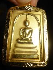 PHRA SOMDEJ BUDDHA AMULET WAT RAKHANG TEMPLE THAILAND GOLD COLOURED