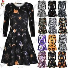Polyester Dresses for Women with Smocked Round Neck
