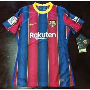 Nike 2020-21 FC Barcelona Women's Soccer Jersey Dri-Fit CD4401-456 Women's sz S