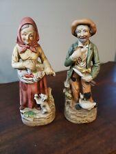 "New ListingHome Interior/Homco Man and Woman Figurines 1417 8 1/2"""