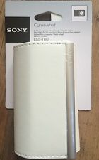 New Genuine Sony Cyber-Shot White Camera Case LCS-TWJ For W & T Series DSC