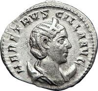 HERENNIA ETRUSCILLA 250AD Rome Ancient SIlver Roman Coin Pudicitia i70205