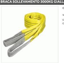 FASCIA DI SOLLEVAMENTO CINGHIA BRAGA BRACA GIALLA 4 mt, 3 tonnellate fune 90mm