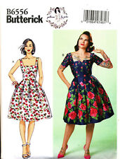 BUTTERICK SEWING PATTERN 6556 MISSES 6-14 RETRO INSPIRED DRESSES BY GERTIE