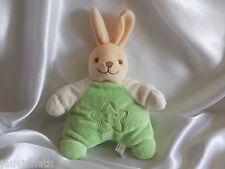 Doudou lapin beige et vert, Fantasy Toys