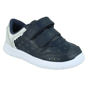 BOYS CLARKS ATH SCALE INIFANT HOOK & LOOP TODDLER SHOES WALKING TRAINERS SIZE