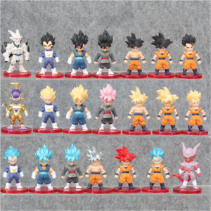 Dragon Ball 21 PCS Doll Gift Kids Toy Cake Topper Decor Action Figure Anime