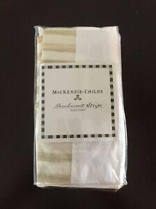 MacKenzie-Childs Parchment Stripe EURO Sham ~ NEW ~ Retired & NLA ~ #76135-003