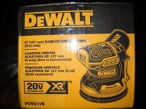 """Dewalt DCW210B 20V Max XR Brushless 5"""" Random Orbital Sander Cordless VS NEW"""