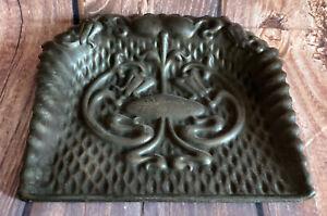 """Pretty Ornate Vintage Metal Crumb Tray ~ 9"""" X 9"""""""