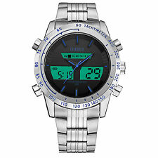Ohsen Mens Sport Army Military Analog Digital Alarm Date/day Quartz Wrist Watch
