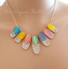 Modeschmuck-Ketten aus Metall-Legierung mit Strass-Perlen