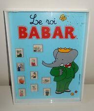 Ancien Coffret / Série de 10 Fèves BABAR vintage 1991