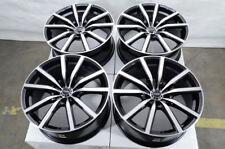 18 5x114.3 Black Wheels Fits Civic Accord Altima Maxima Tsx Rsx Camry 5 Lug Rims