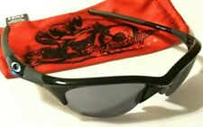 Pristine Oakley Half Jacket 1.0 Sunglasses Silver Icons Black Iridium Lenses