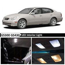 15x White Interior LED Lights Package Kit for 1998-2005 Lexus GS300 GS430