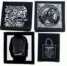 RUDIMENTARY PENI DISCHARGE SUBHUMANS CRASS UK punk rock Jacket PATCH set