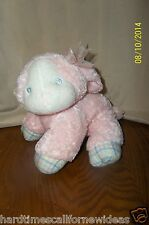 First & Main Bambino Lambino Pink White Pastel Rattle Lamb Plush