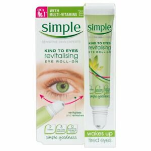 Simple Revitalising Eye Roll-On for Tired / Sagging Eyes 15ml NEW IN BOX